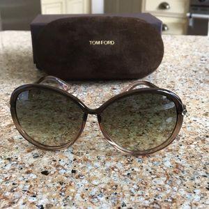 Tom Ford Clothilde Brown Gradient Sunglasses